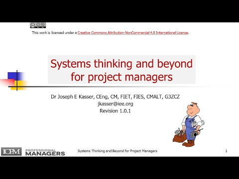Systems Thinking and Beyond for Project Managers