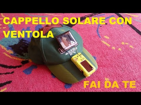 cappello solare con ventola FAI DA TE / diy cap with fan