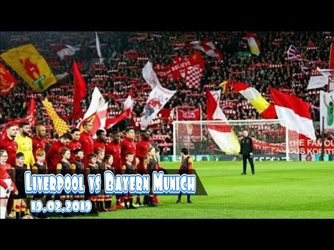 Liverpool Vs Bayern Munich Champions League-amazing Supporter Liverpool In Anfield