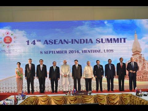 PM Modi at the 14th Asean-India Summit in Vientiane, Laos