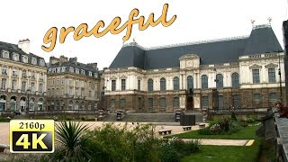 Rennes France  City new picture : Rennes, city walk - France 4K Travel Channel