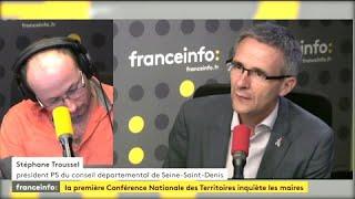 """Macron face aux élus locaux: """"comme le serpent 'Kaa' qui dit à Mowgli 'aie confiance'"""" pour Stéphane Troussel (PS)"""