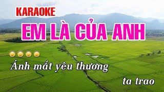 Video KARAOKE   Em Là Của Anh - Hồ Việt Trung   Beat Chuẩn MP3, 3GP, MP4, WEBM, AVI, FLV Juni 2019