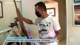 Exposição de artista plástico especialista em carros tem início em Marília