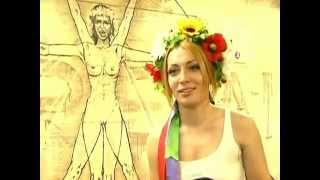 Ativistas do grupo FEMEN protestam contra o turismo sexual na Ucrânia durante a Euro (Rede Globo)