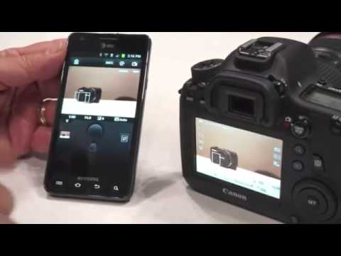 Canon 6D remote-controlled via WiFi-connected smartphone!