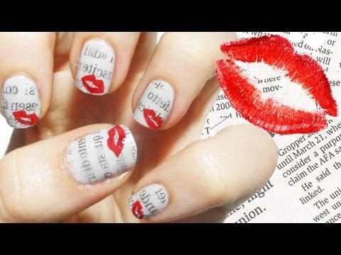 love letter nail art - dedicata alle lettera d'amore