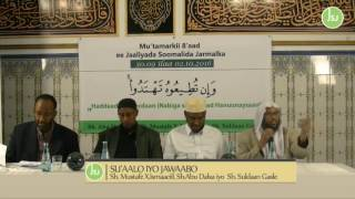 SU'AALO IYO JAWAABO CUSUB SH MUSTAFE SH ABDU DALXA SH SULDAAN 02.10.2016 full download video download mp3 download music download