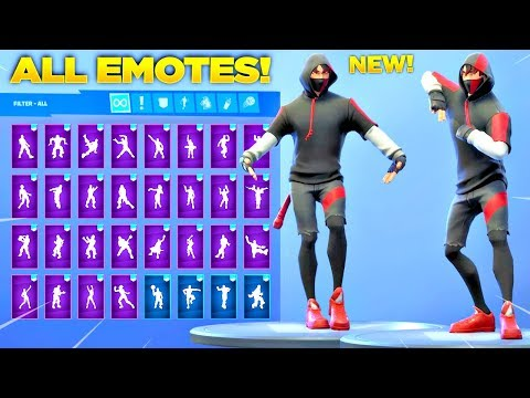 *NEW* IKONIK SKIN SHOWCASE WITH ALL FORTNITE DANCES & NEW EMOTES! (Samsung Exclusive Skin)