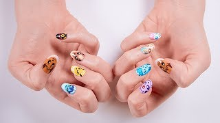UK: Eevee Evolution Nail Art by The Official Pokémon Channel