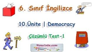 6. Sınıf  İngilizce  10. Ünite  Democracy  Çözümlü Test-1Kanalımıza abone olmayı unutmayınız!