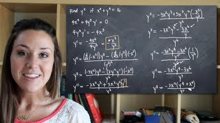 Use Implicit Differentiation To Find The Second Derivative Of Y (y'')