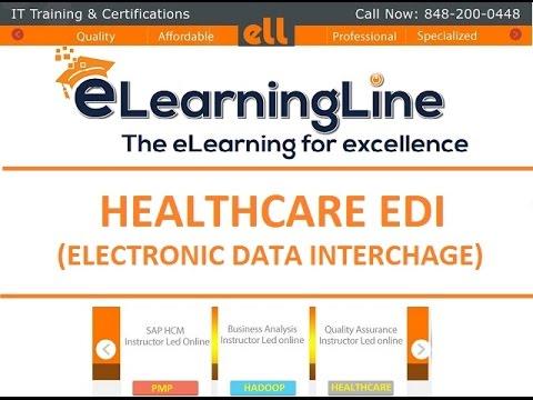 Healthcare EDI || EDI tutorials || HIPAA EDI Tutorials by eLearningLine @ 848-200-0448 (видео)