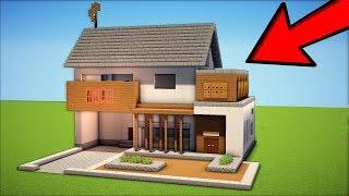 Minecraft: How to Build a Modern Suburban House - Tutorial 2017