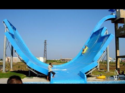 AWESOME Half Pipe Water Slide at Aqua Park Bulgaria