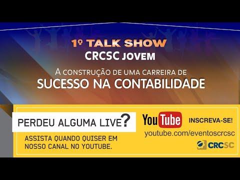 1° Talk Show CRCSC Jovem: A Construção de uma Carreira de Sucesso na Contabilidade