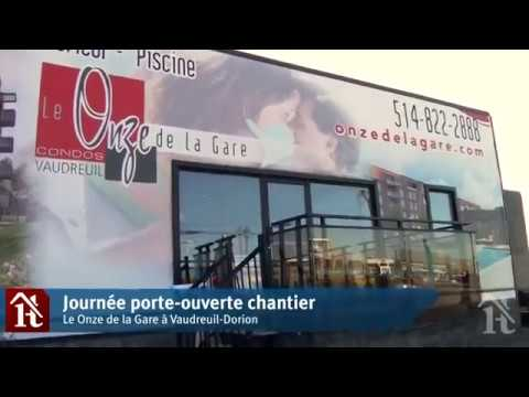 OPEN HOUSE AND CONSTRUCTION SITE VISIT AT LE ONZE DE LA GARE – MEDIA COVERAGE BY VIVA MÉDIA – (IN FRENCH ONLY)
