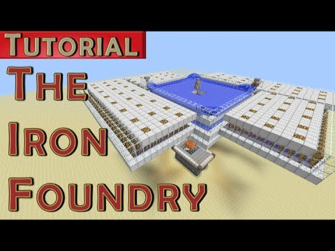 The Iron Foundry - Iron Golem Farm - 1700 Iron/hr (Works in 1.7.9)
