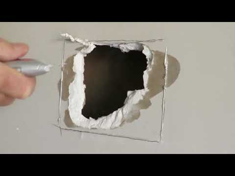 🏠 How to Repair Drywall and Fix a large Hole in the Plaster Wall the easy way