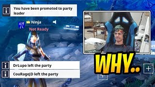 Ninja's *HILARIOUS* Reaction After All His Friends Leaving! - Fortnite Best and Funny Moments