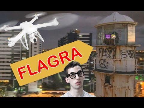 Drone flagra pessoas no TOPO do farol em Aracaju, Sergipe
