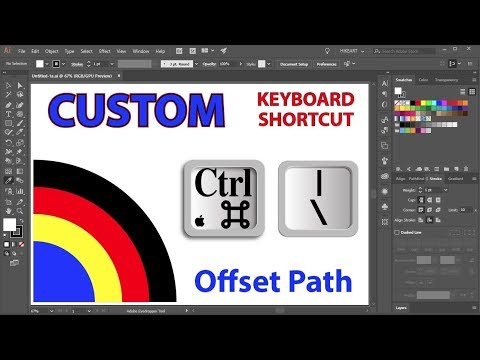 How To Create A Custom Keyboard Shortcut For The Offset Path Function In Adobe Illustrator