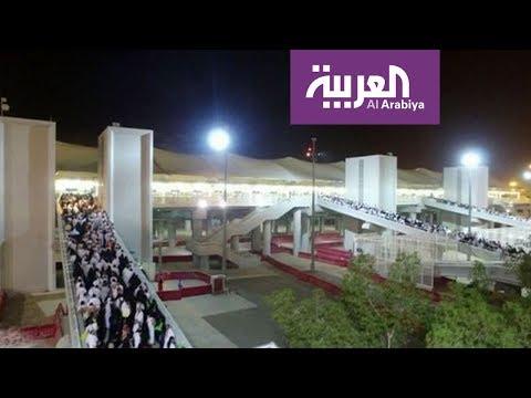 العرب اليوم - شاهد: صور جوية ليلية مميّزة للمشاعر المقدّسة