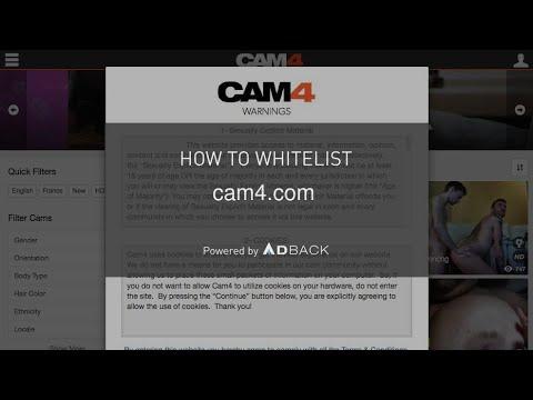 AdBack Tutorial: How to deactivate your adblocker on cam4.com?