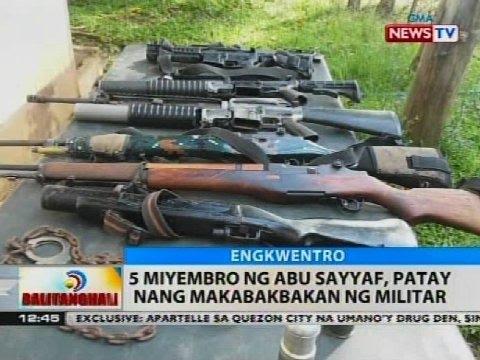 Video BT: 5 miyembro ng Abu Sayyaf, patay nang makabakbakan ng militar download in MP3, 3GP, MP4, WEBM, AVI, FLV January 2017
