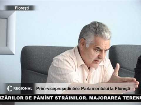 Prim-vicepreședintele Parlamentului la Florești