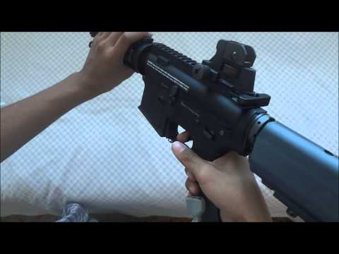 King Arms Colt M4 Cqb-r Aeg Airsoft Gun Review/unboxing