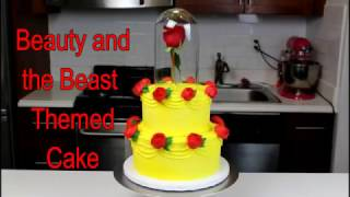 How To Make A Beauty And The Beast Themed Cake   Chelsweets