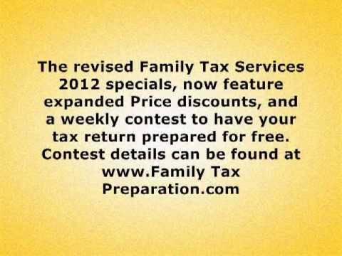 Family Tax Preparation com Press Release ~ Tax Preparation Services ~ Free Tax Prep Contest