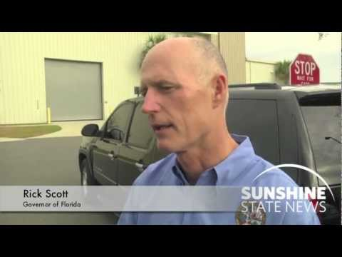 While speaking to the media on Jan. 20, 2012, Gov. Rick Scott says he is glad that FAMU is taking the issue of hazing seriously. Courtesy: Dave Heller Video