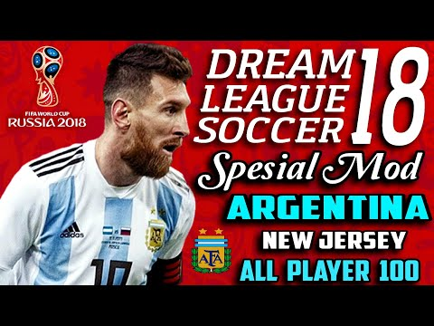 Download Dream League Soccer 18 Mod Argentina Fifa World Cup Russia 2018 | Hack Unlimited Money