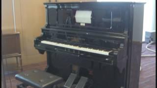 足踏式竪型自動ピアノの演奏収録