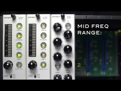THE NEW APHEX 500 SERIES - EQF 500 EQUALIZER