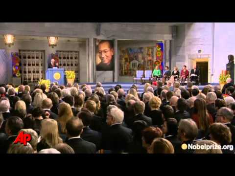 Nobel Peace Prize Laid on Empty Chair
