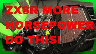 9. ZX6R 3 Best Mods  to Add More Horsepower
