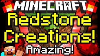 Minecraft AMAZING REDSTONE CREATIONS! Holodecks, Automatic Missiles&More!