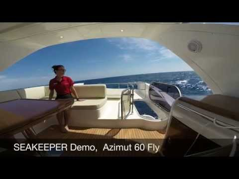 Seakeeper Gyro Stabilizer in Action on the Azimut 60 Flybridge