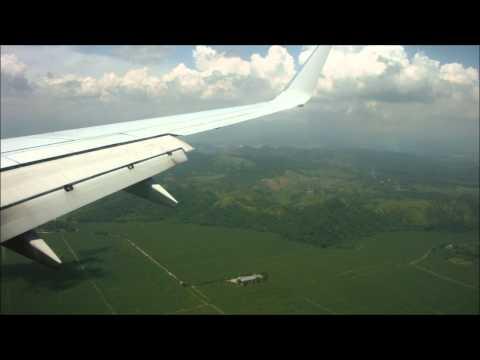 Aterrizando en San Pedro Sula Honduras