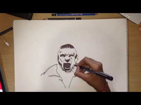 Speed Drawing : BROCK LESNAR