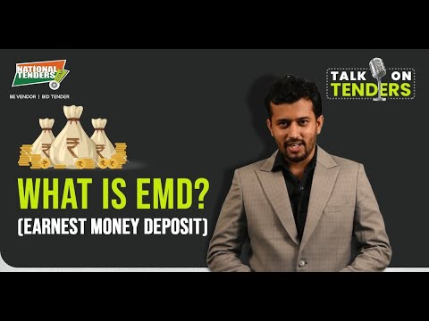 What is EMD (Earnest Money Deposit) by Mr. Nitin S.Jain, National Tenders in Hindi | Talk On Tenders