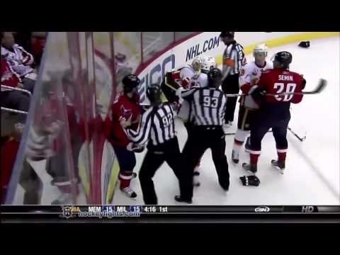 Cory Sarich vs Jason Chimera Mar 28, 2010