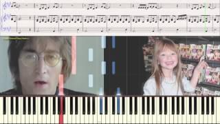 Imagine (Children sing) (Дети поют, Ноты для фортепиано) (piano cover)