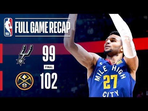Video: Full Game Recap: Spurs VS Nuggets   Denver Outlasts San Antonio