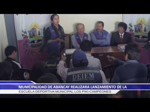 MUNICIPIO DE ABANCAY REALIZARA LANZAMIENTO DE LA ESCUELA DEPORTIVA MUNICIPAL LOS PIKICAMPEONES