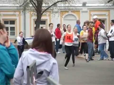 9 мая Легкоатлетическая эстафета на Советской площади