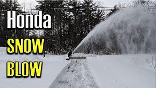 7. End of Driveway | Honda HSS1332ATD Track Drive Snowblower -20°F